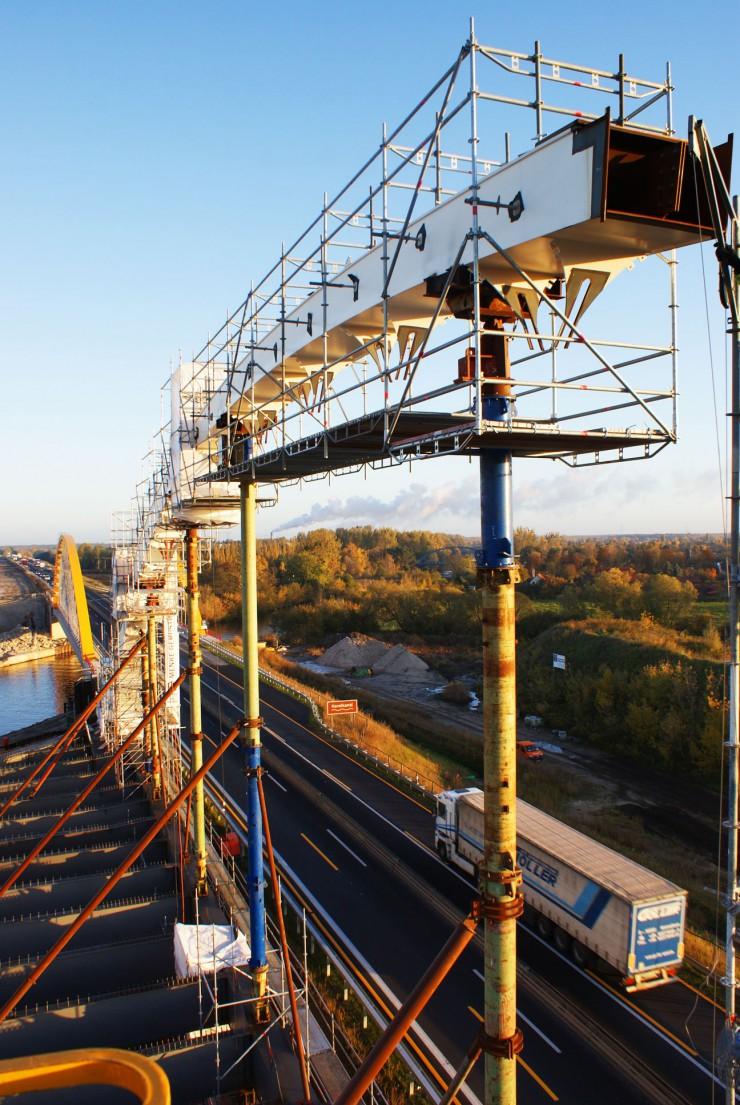 Brückenbau – Autobahn Brieselang
